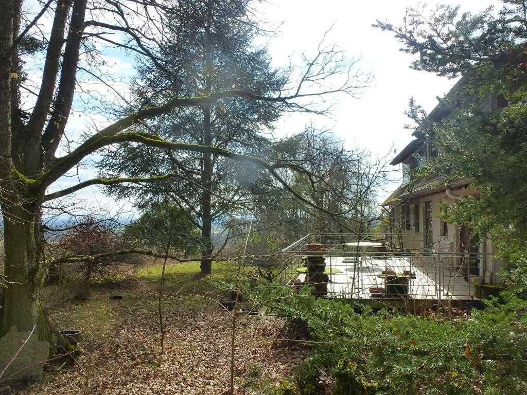 In traumhafte Alleinlage – großzügiges Landhaus mit wunderschönem Naturgrundstück und herrlichem Blick über die Rheinebene