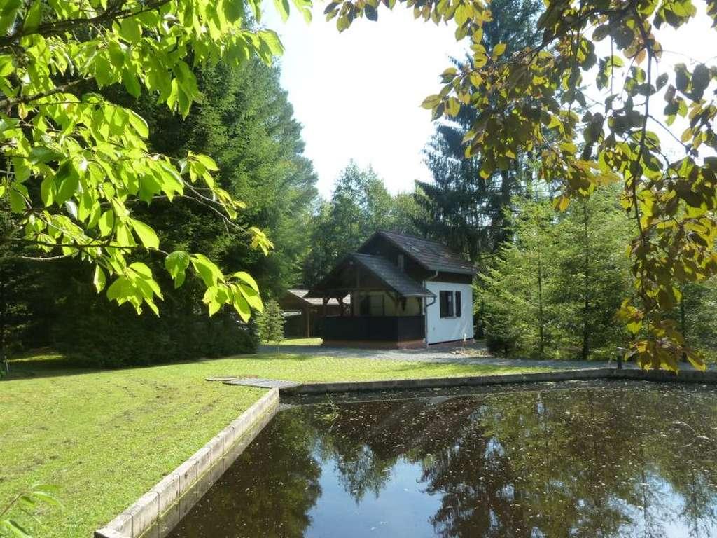 Top-gepflegte Ferienhaus- und Freizeitanlage mit 3 Weihern und großem Grundstück